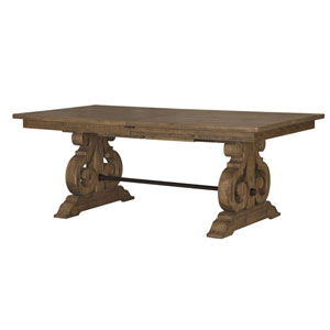 Quinn Rectangular Dining Table in Weathered Barley