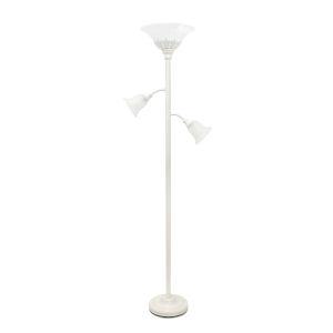 Quince White Three-Light Floor Lamp