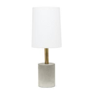 Erin Concrete Brass White One-Light Table Lamp