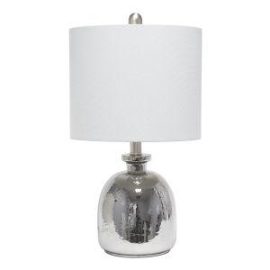 Cerise Metallic Gray One-Light Table Lamp