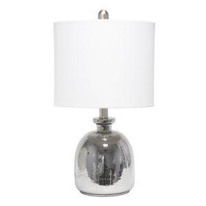Cerise Metallic Gray White One-Light Table Lamp