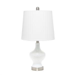 Opal White Linen One-Light Table Lamp