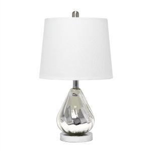 Cerise Chrome White One-Light Table Lamp