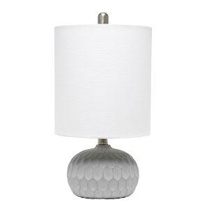 Erin Concrete Linen White One-Light Table Lamp