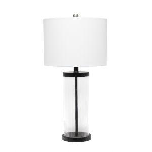 Cerise Black White One-Light Table Lamp