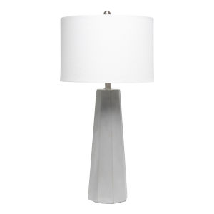 Erin Concrete White One-Light Table Lamp