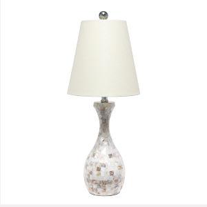 Marigold Mosaic Shell One-Light Table Lamp