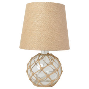 Marigold Clear Burlap One-Light Table Lamp