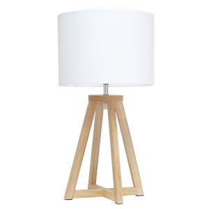 Alloy Natural White One-Light Table Lamp