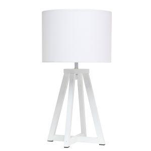 Alloy White One-Light Table Lamp