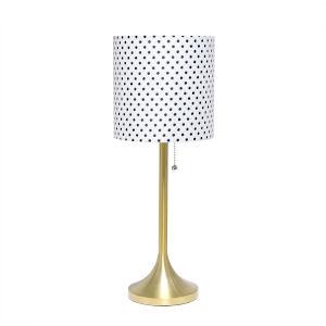 Citrine Gold Polka Dot One-Light Table Lamp