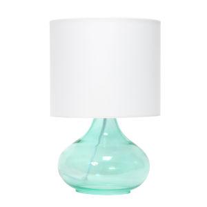 Cerise Aqua White One-Light Raindrop Table Lamp