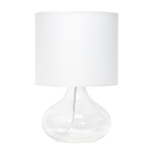 Cerise Clear White One-Light Raindrop Table Lamp