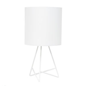 Wired White One-Light Table Lamp