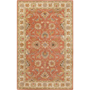 Wellington Red Clay and Moth Beige Rectangular: 2 Ft. x 3 Ft. Rug