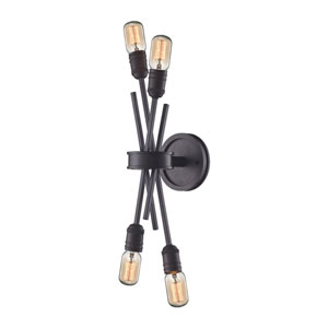 Uptown Oil Rubbed Bronze Four-Light Wall Sconce