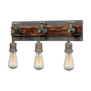 River Station Multicolor Weathered Three-Light Wall Sconce