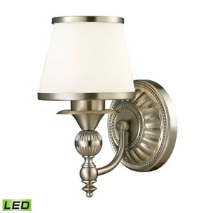 Wellington Brushed Nickel LED One-Light Vanity