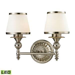 Wellington Brushed Nickel LED Two-Light Vanity