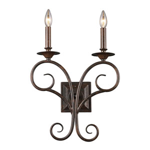 Aster Antique Bronze Two-Light Sconce