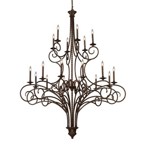 Aster Antique Bronze Eighteen-Light Chandelier