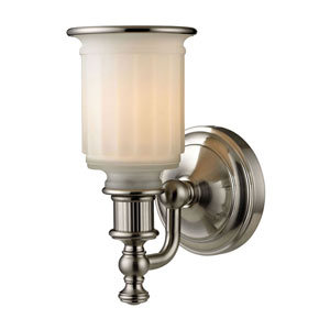 Evelyn Brushed Nickel One-Light Vanity