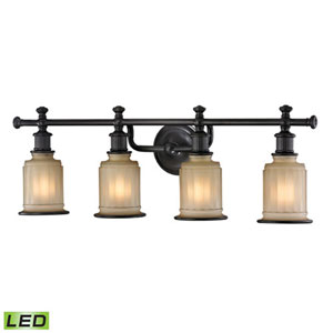 Evelyn Oil Rubbed Bronze LED Four-Light Vanity