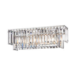 Vivian Polished Chrome 27-Inch Three-Light Vanity