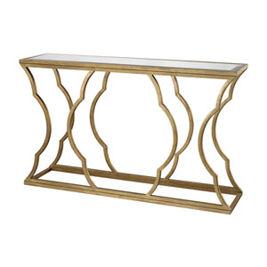 Monroe Antique Gold Leaf Console