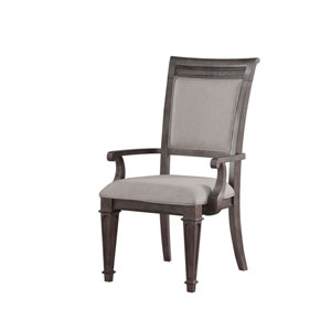 Vivian Arm Chair Filigree Back with Upholstered Back and Seat, Set of 2