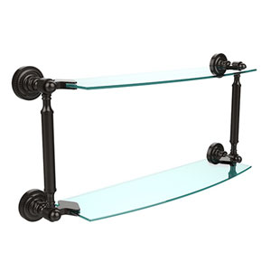 Wellington Oil Rubbed Bronze 18-Inch Double Shelf