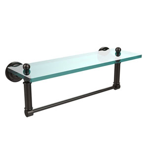 Wellington Oil Rubbed Bronze Single Shelf with Towel Bar