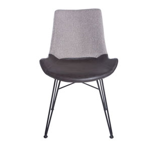 Uptown Side Chair in Light Gray, Set of 2