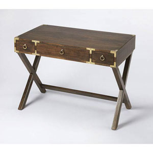 Aster Dark Brown Writing Desk