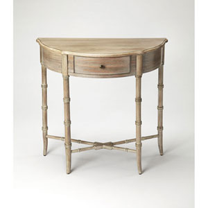 Grace Driftwood Demilune Console Table