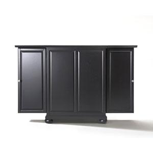 Wellington Expandable Bar Cabinet in Black Finish