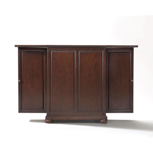 Wellington Expandable Bar Cabinet in Vintage Mahogany Finish