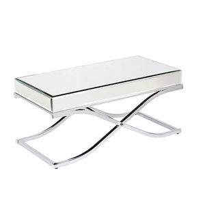 Monroe Chrome Mirrored Cocktail Table