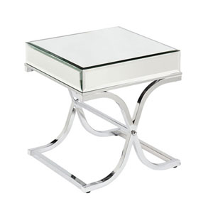 Monroe Chrome Mirrored End Table