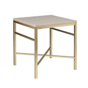 Selby Cream Stone Faux Stone End Table