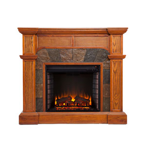 Aster Oak Convertible Electric Fireplace