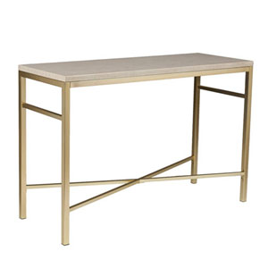 Selby Cream Stone Faux Stone Console Table