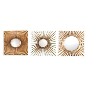 Selby Gold Decorative Mirror, Set of 3