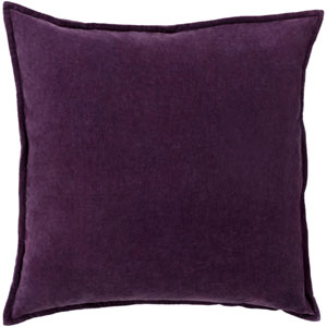 Loring Velvet Eggplant 13 x 9 In. Pillow with Poly Fill