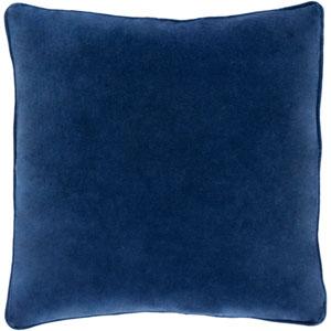 Aster Navy Velvet 18 In. Throw Pillow