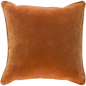 Aster Burnt Orange 18 In. Throw Pillow with Poly Fill