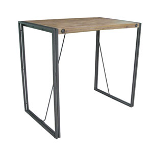 River Station Natural and Grey Bar Table