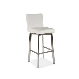 Uptown White Counter Stool