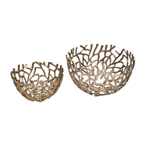 Nicollet Nest Bowls Silver, Set of 2