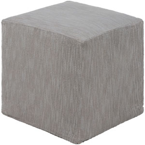 Monroe Silver Gray 18 In. Pouf